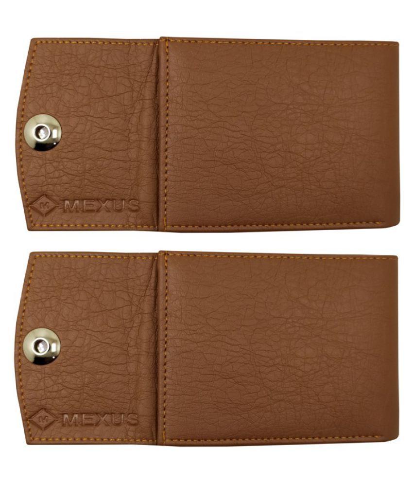 MEXUS PU Tan Formal Regular Wallet