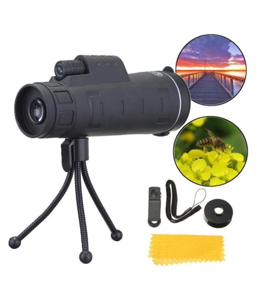Monocular Telescope, 10x42 High Definition Monocular with Smartphone Adapter & Tripod, Waterproof
