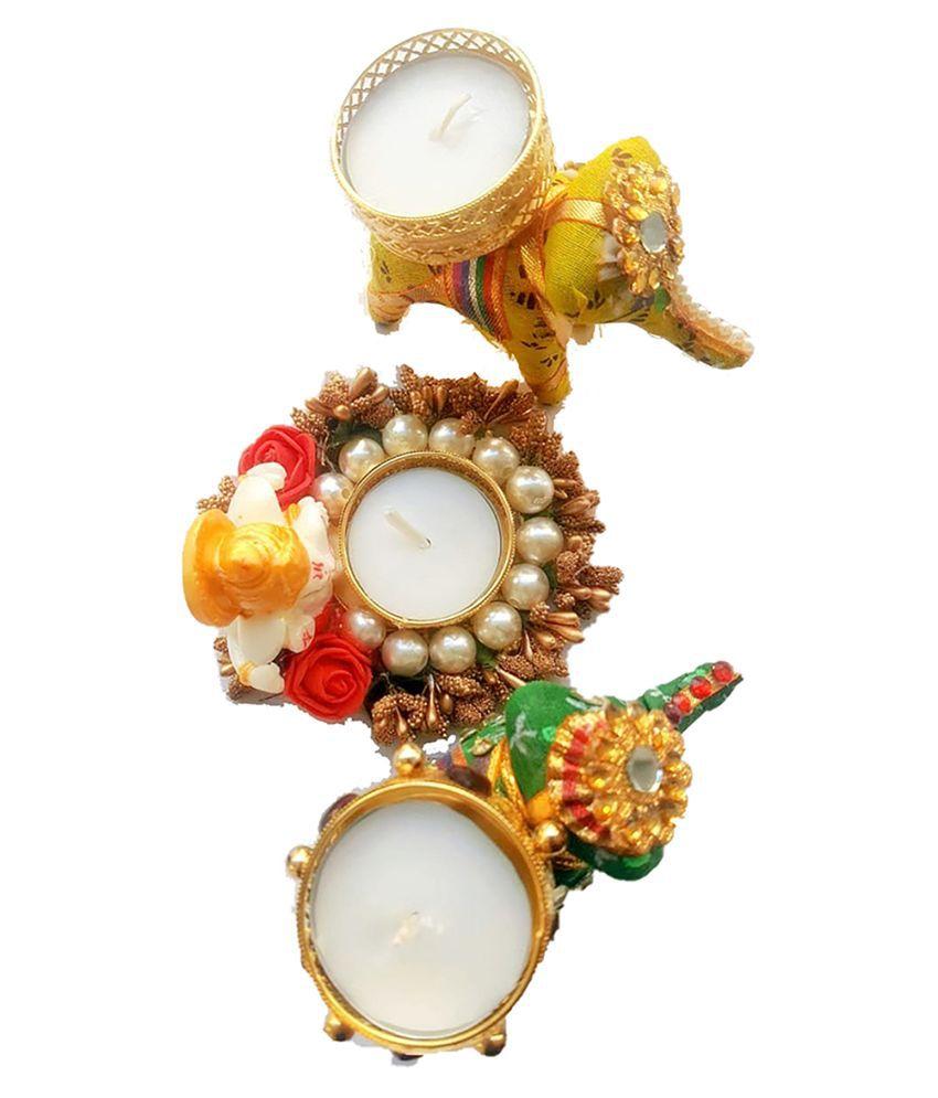 RADHEYRANI Multicolour Wax Tea Light - Pack of 1