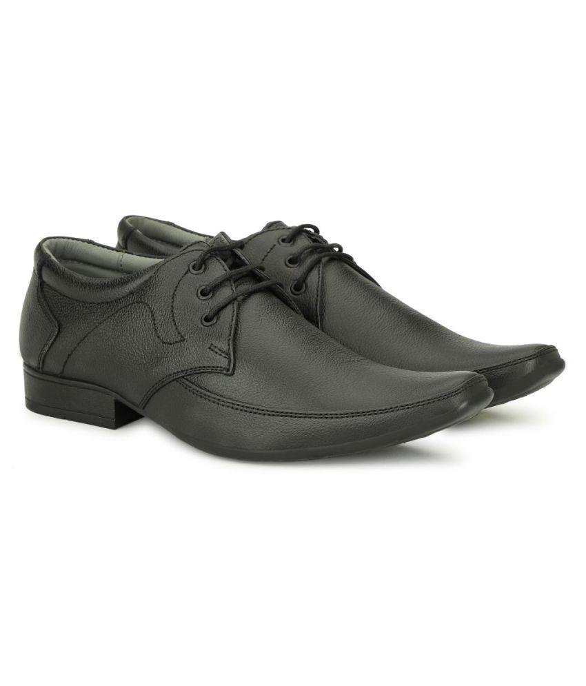 Tlizrok Office Genuine Leather Black Formal Shoes