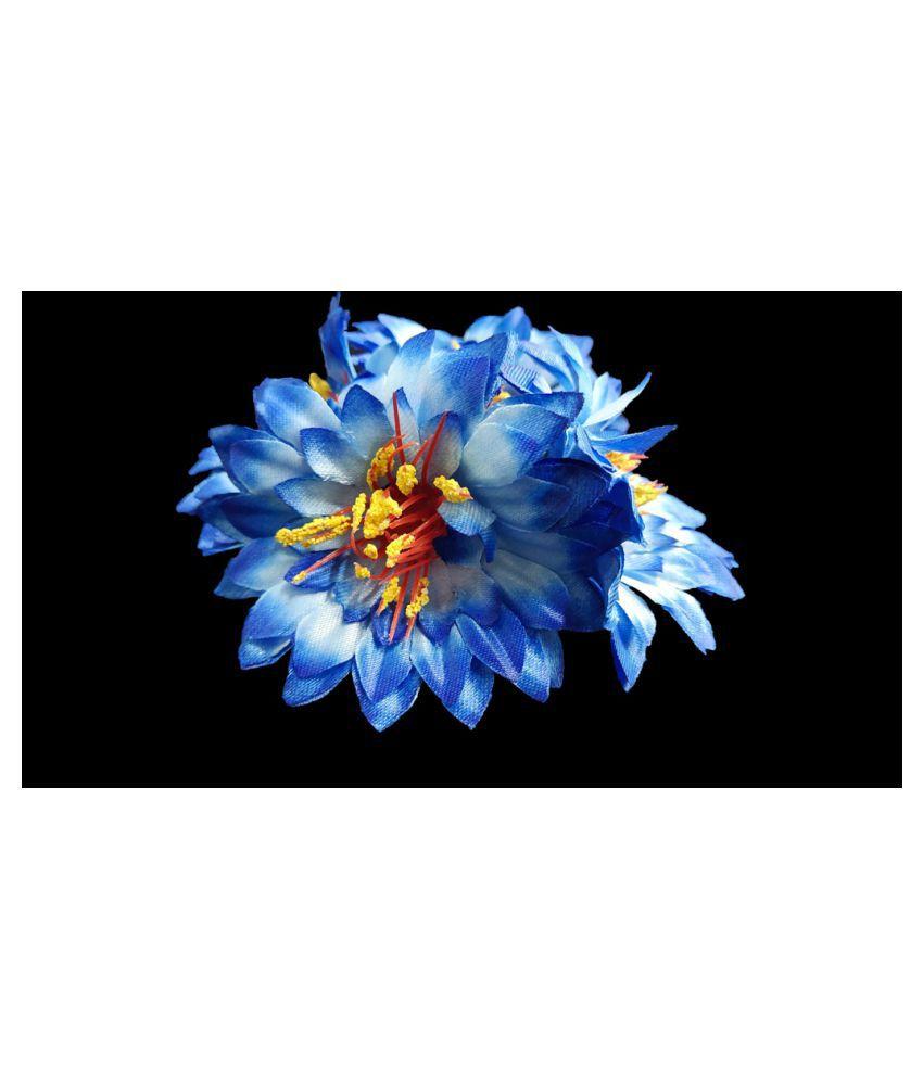 28pcs Blue Color Artificial Flowers for Diwali & Room Decoration