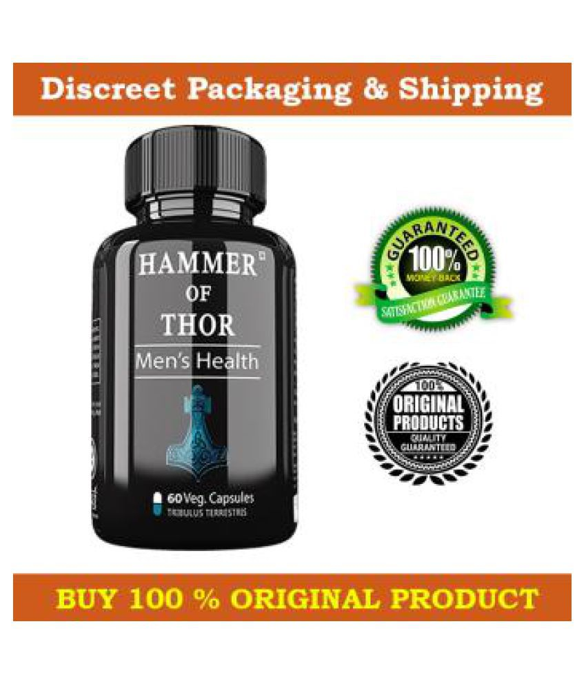 DR. Chopra Hammer Of Thor, Male  Organ Enlargement Capsules , 60 no.s, (100% Herbal Supplements )
