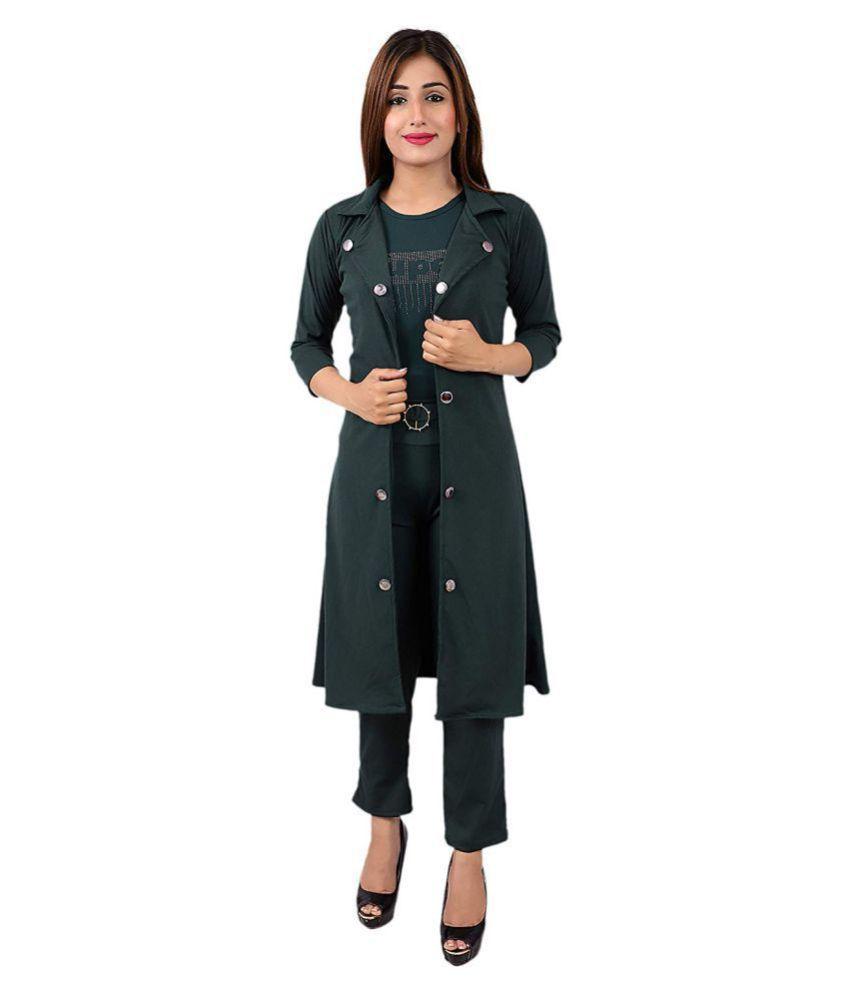 LC Hoisery Green Regular Dress