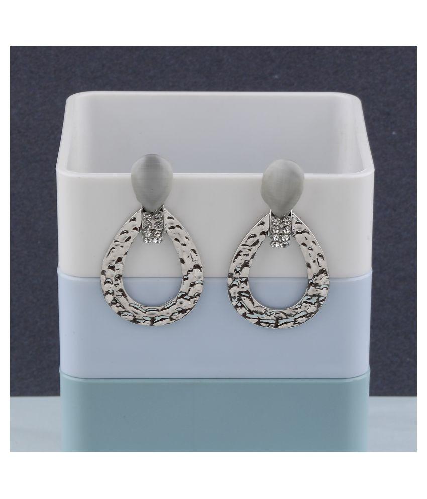 Silver Plated Stylish Diamond Dangle Earring For Women Girl