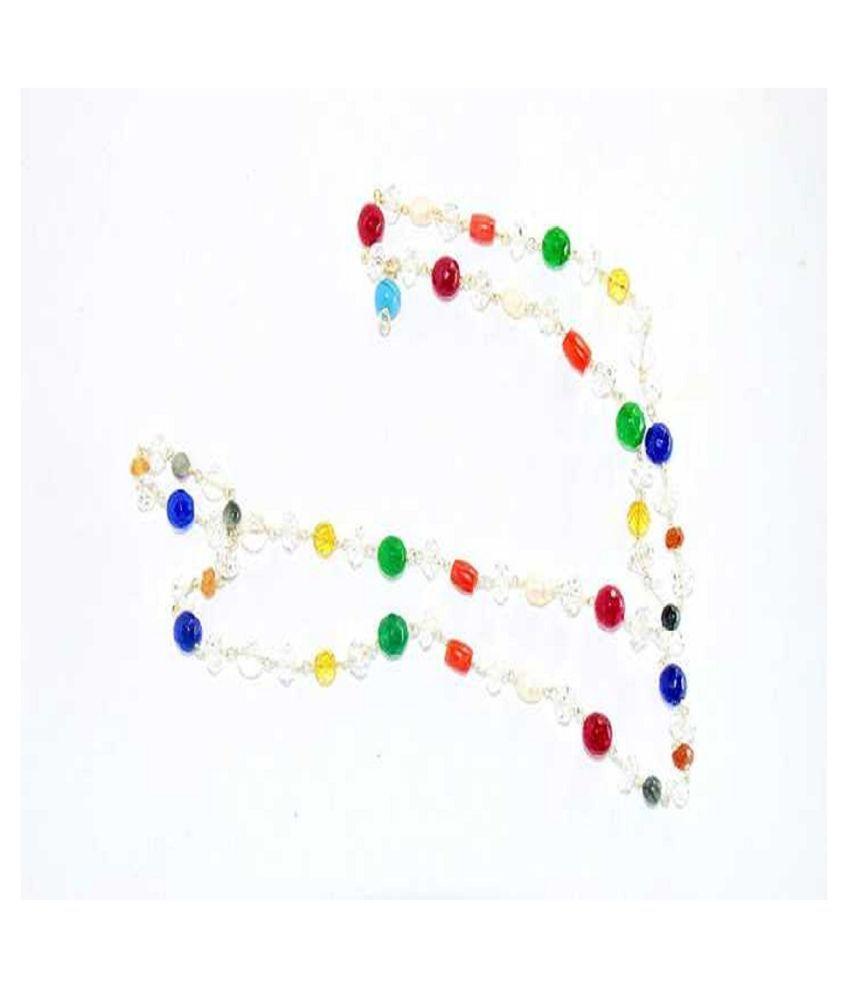 Natural Navratna Beads Mala Lab Certified & Effective Stone Navgrah beads mala For Unisex