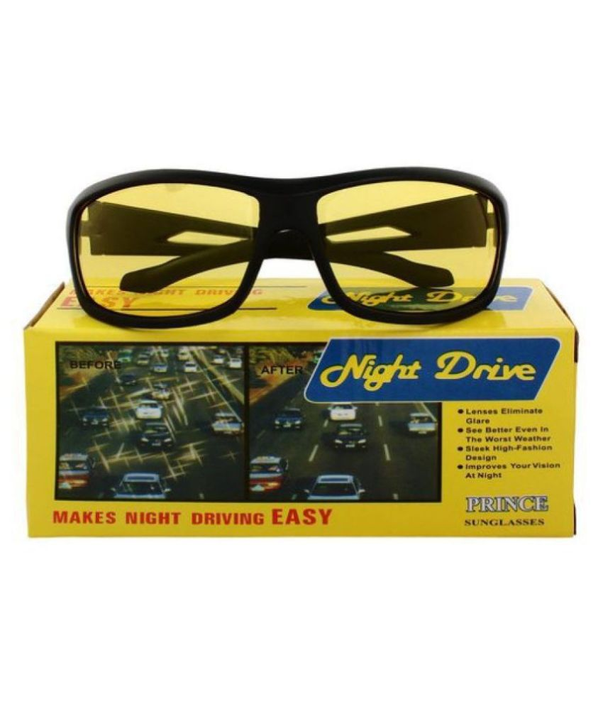 Yellow Night Vision Driving Men's and Women's Best Quality glasses Pack of 1  WITH YELLOW BOX PACKING