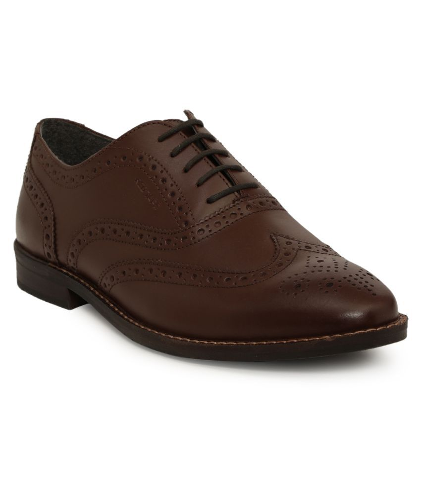 Red Tape Oxfords Genuine Leather Brown Formal Shoes