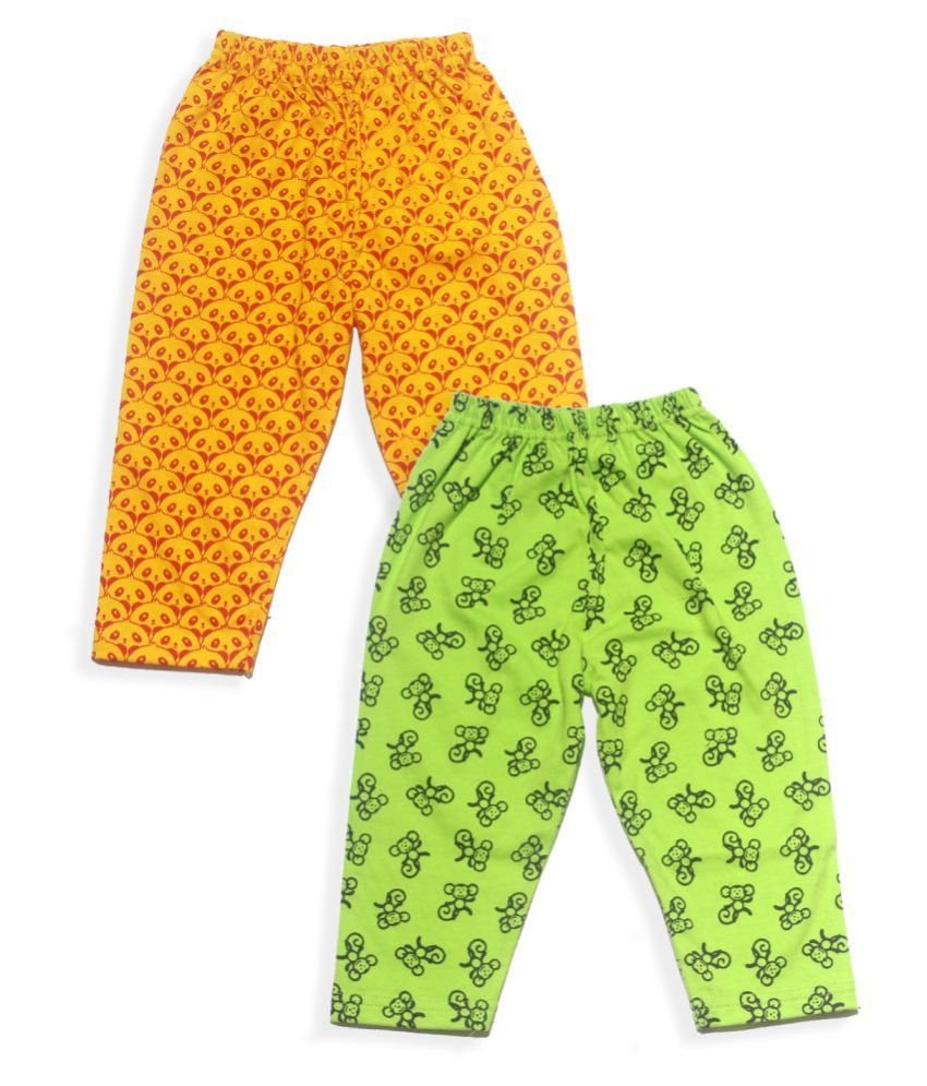 SHOPOLINE Cotton  Full Pant Baby Apparel  Pack of 2