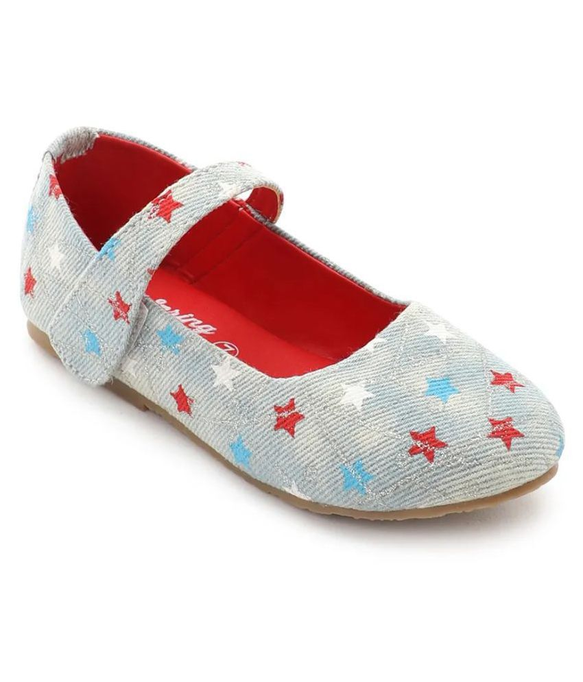 Spring Bunny - Baby Girl ' Stars ' Blue Shoes