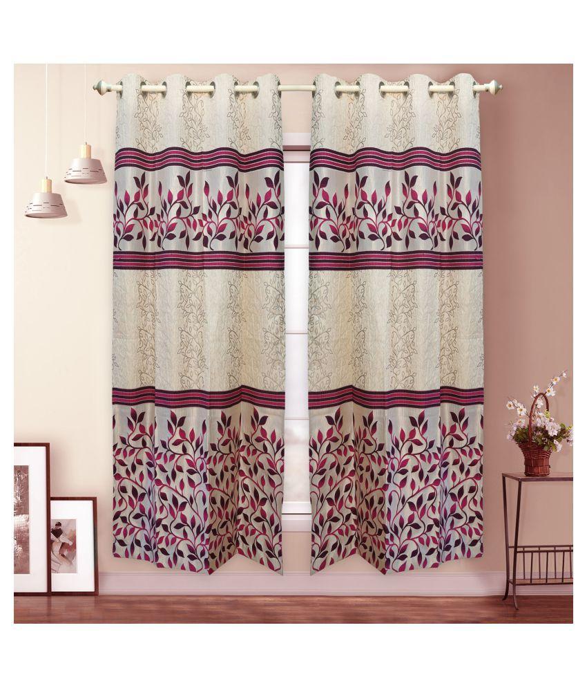 gold decor Single Door Semi-Transparent Eyelet Polyester Curtains Assorted