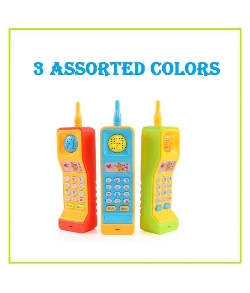 Musical Mobile Phone Toy with Colourful Lights and Sound Effects