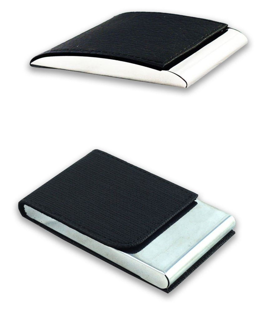 Auteur VCH3-63 Multicolor Artificial Leather Professional Looking Visiting Card Holders for Men and Women Set of 2 (upto 15 Cards Capacity)