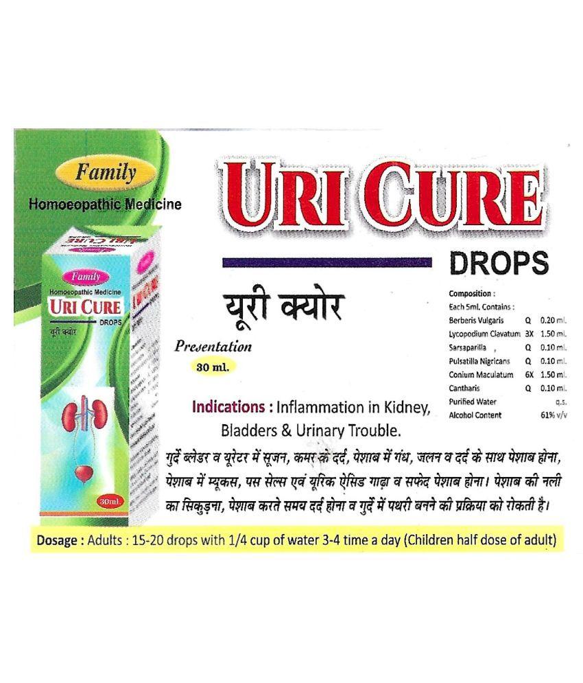 Family Health Care Uri Cure Drops Liquid 120 ml Pack Of 4