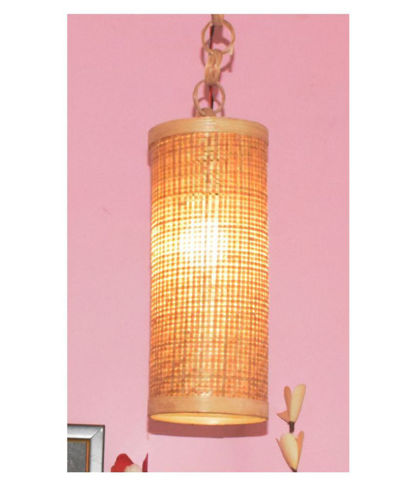 Bengal Handicrafts & Handlooms Cylindrical Wood Lamp Shade Multi - Pack of 1