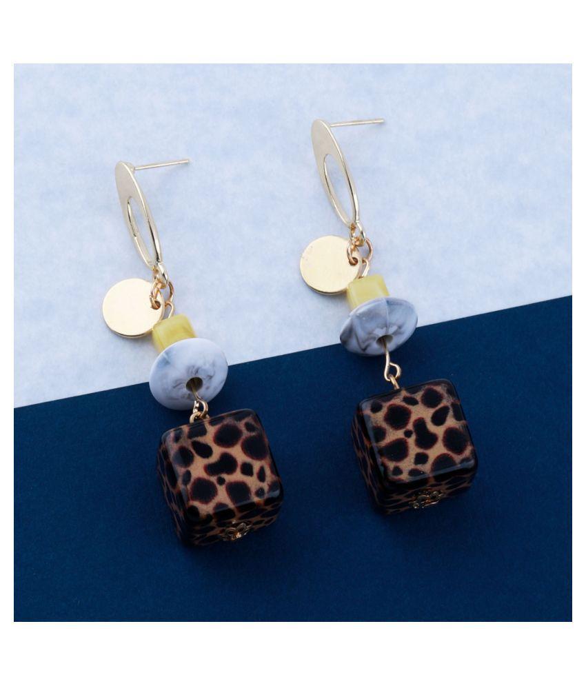 Elegant Multi Colour Designer Party Wear Drop Earring For Girls and Women Jewellery