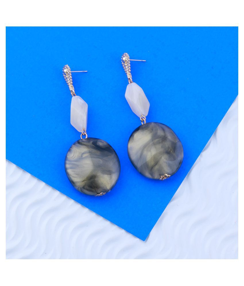 Multi Colour Party Wear Stone Drop Earring For Girls And Women Jewellery