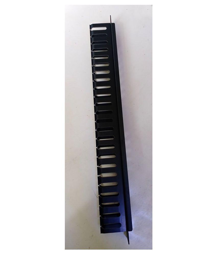 1U Cable Management Panel, Plastic  19'' (48 x 4 x 6)