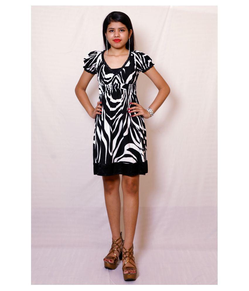 ARRICK FASHION Polyester Black A- line Dress