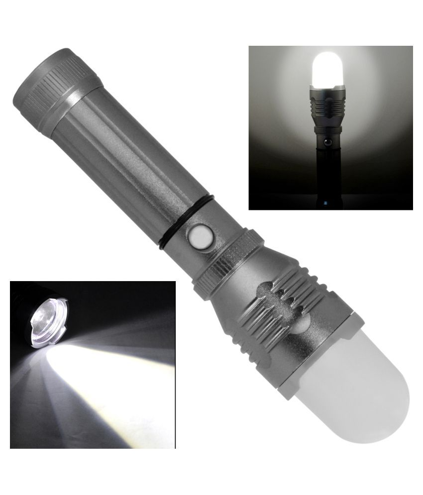 SJ 5W Flashlight Torch 400 M Rechargeable - Pack of 1