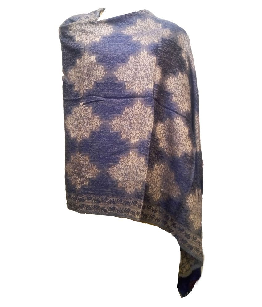 shah art gallery Multi Printed Wool Stoles