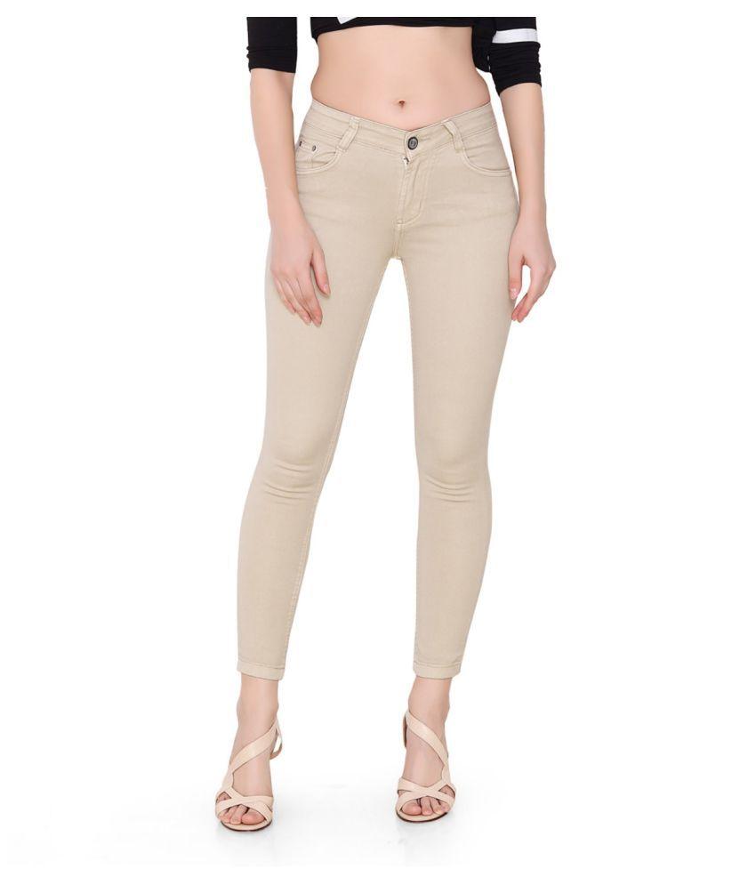 Flirt Nx Denim Lycra Jeans - Beige