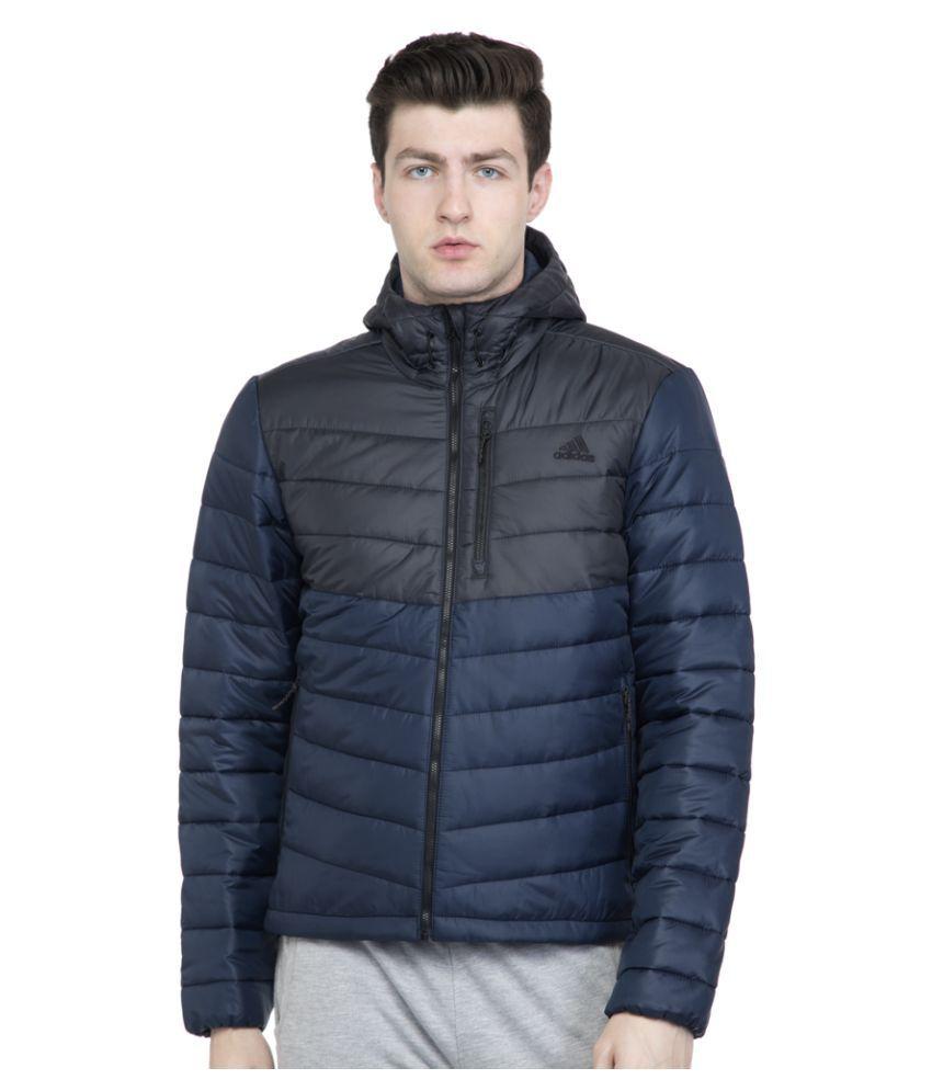 Adidas Blue Polyester Jacket