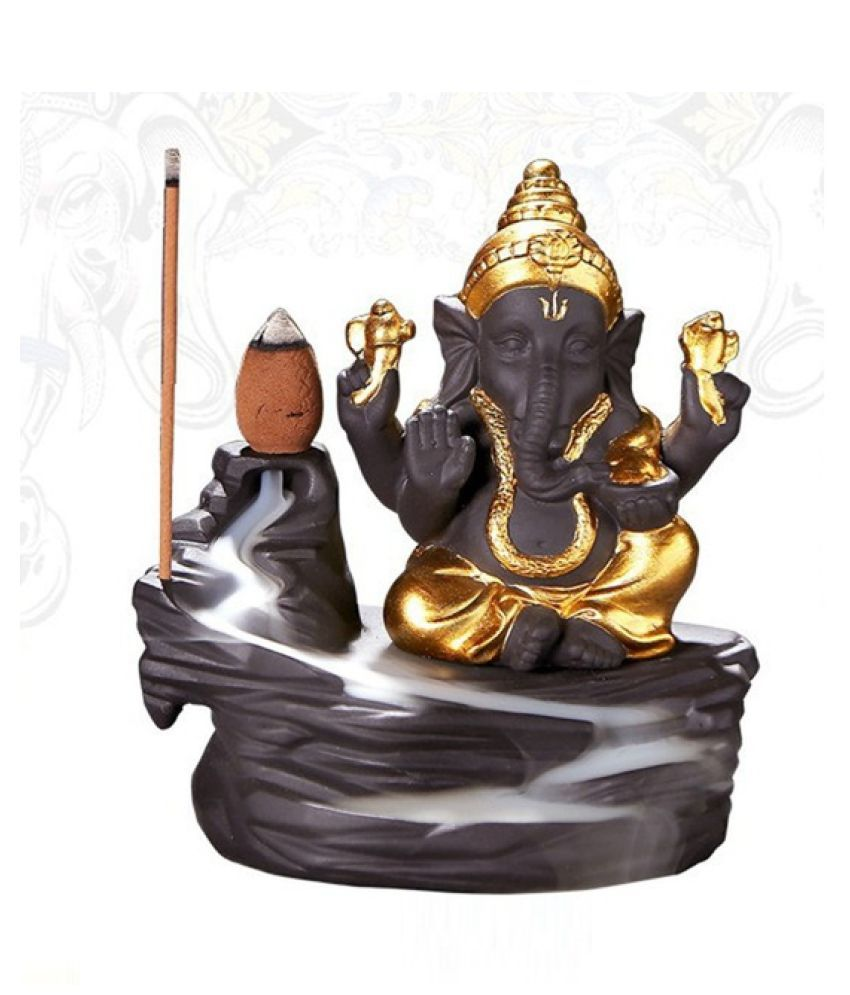 Yukti Smoke Backflow Idols Resin Buddha Idol 5 x 5 cms Pack of 1