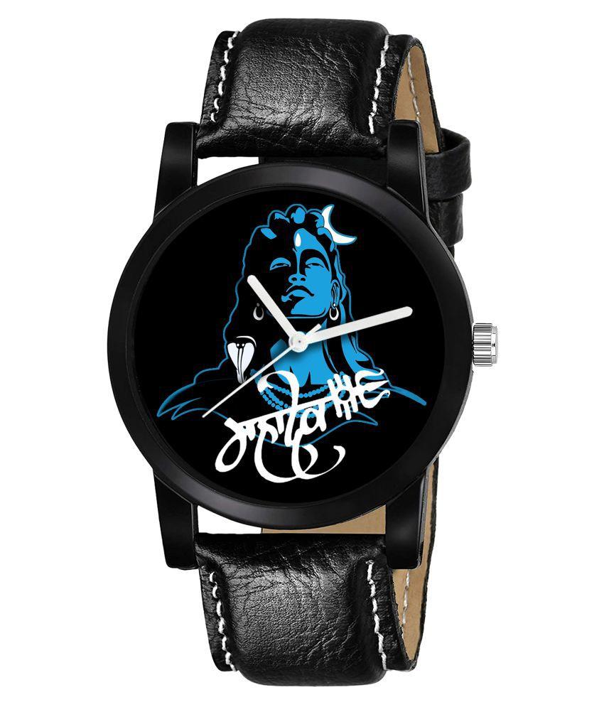 Baronex Mahakal_BLA001 Leather Analog Men's Watch