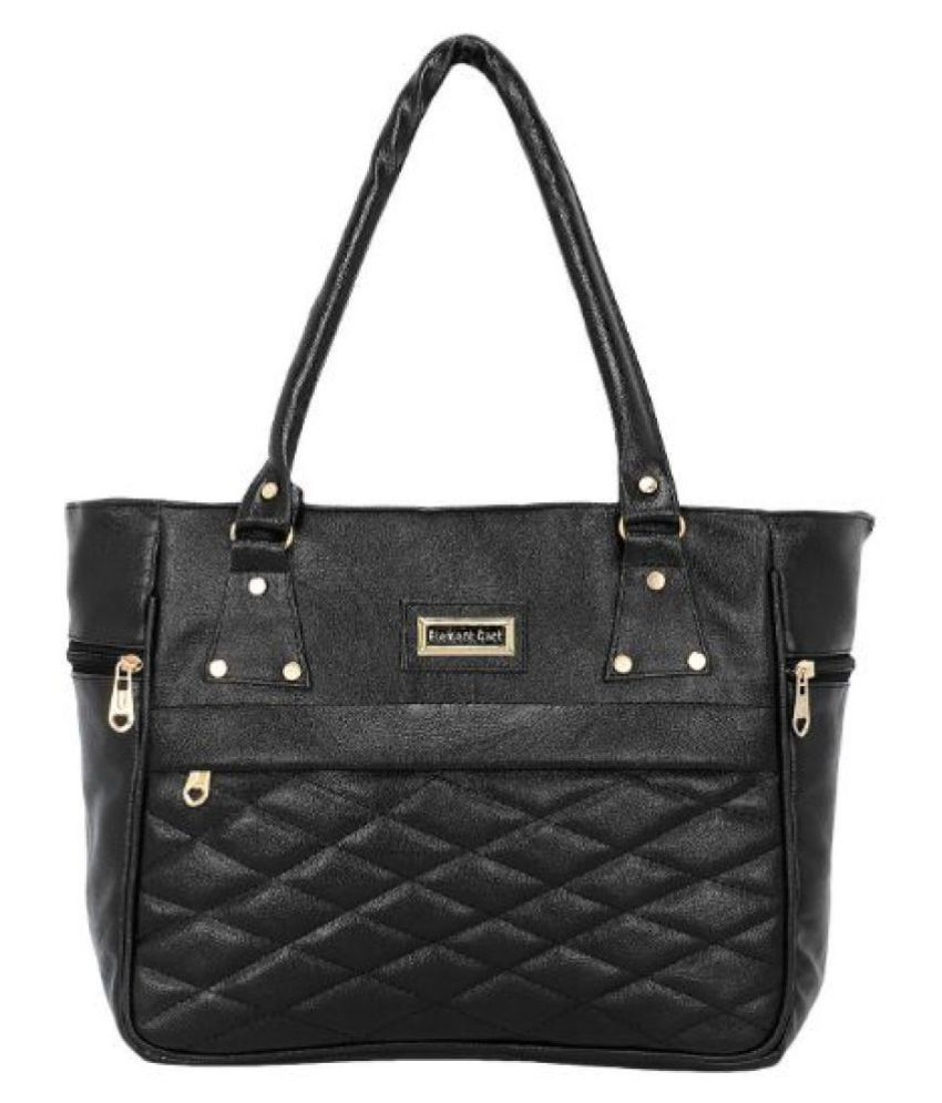 MaBelle Black P.U. Shoulder Bag