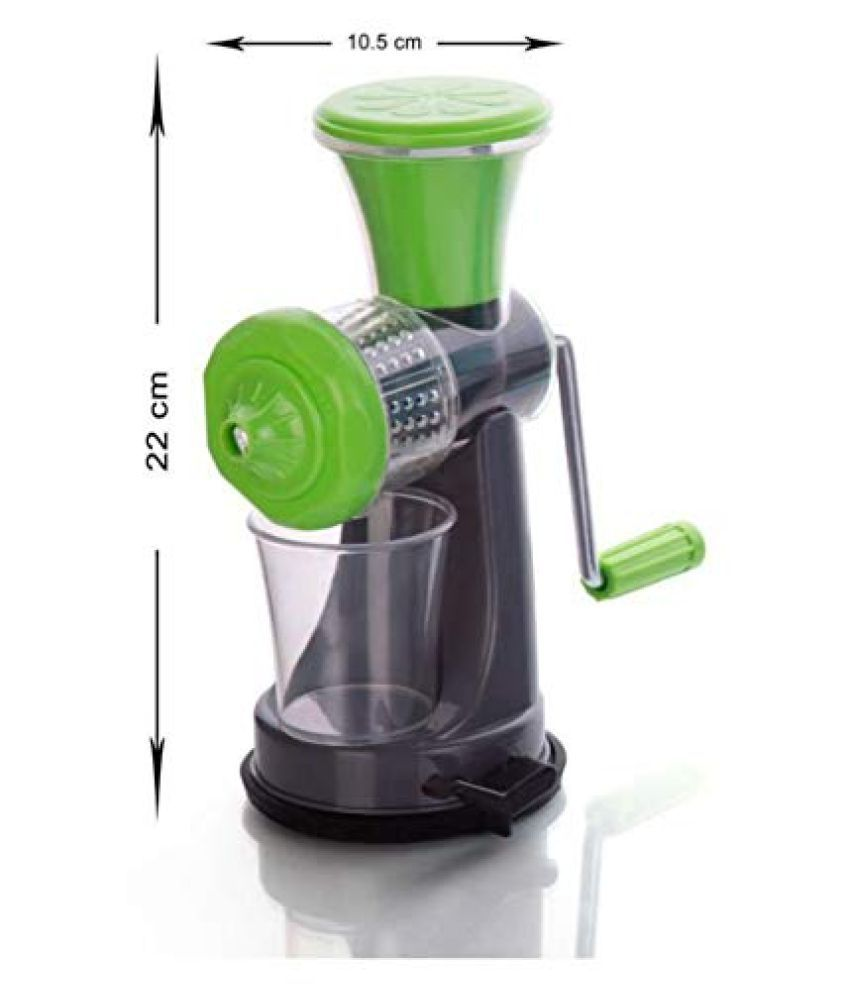 Valorant Manual Non Electric Hand Nano Juicer for Fruit and Vegetables with Steel Handle and Waste Collector Multi Color Set Of 1