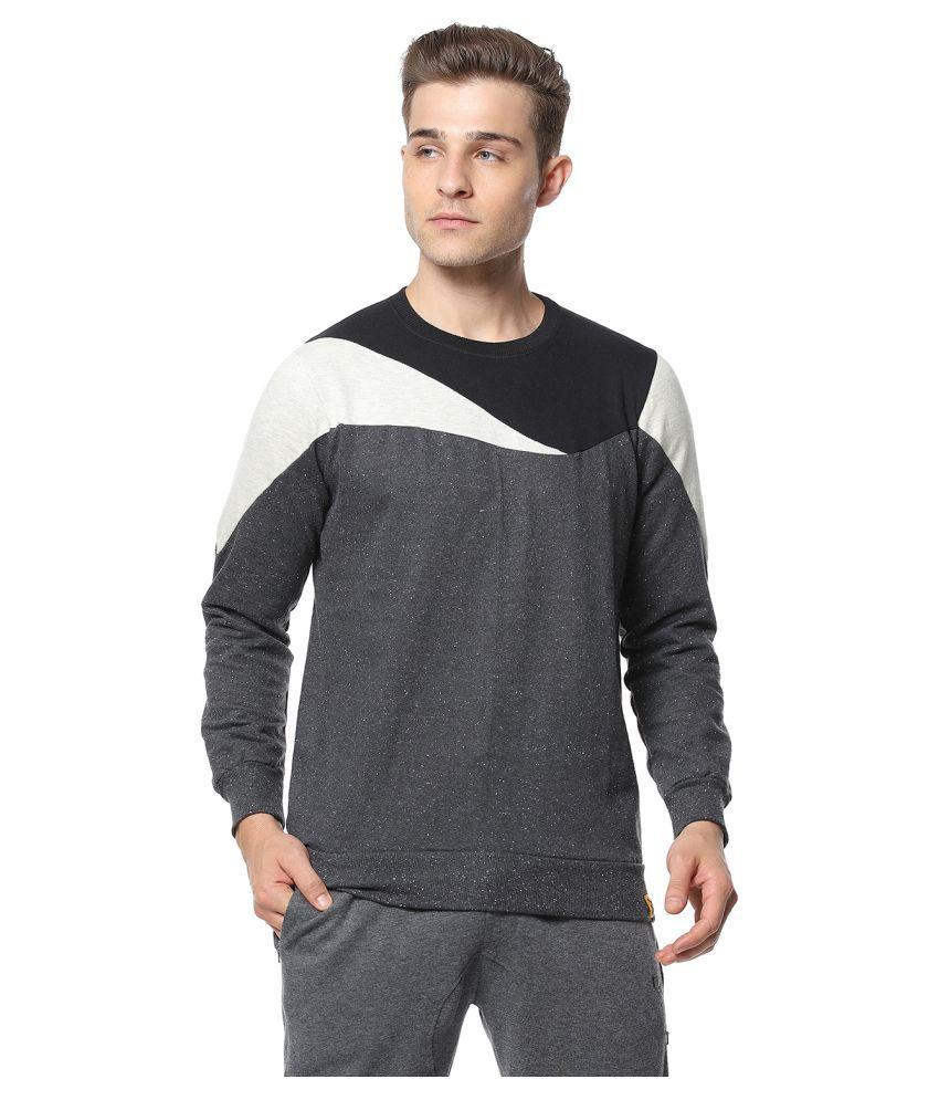 Campus Sutra Grey Sweatshirt