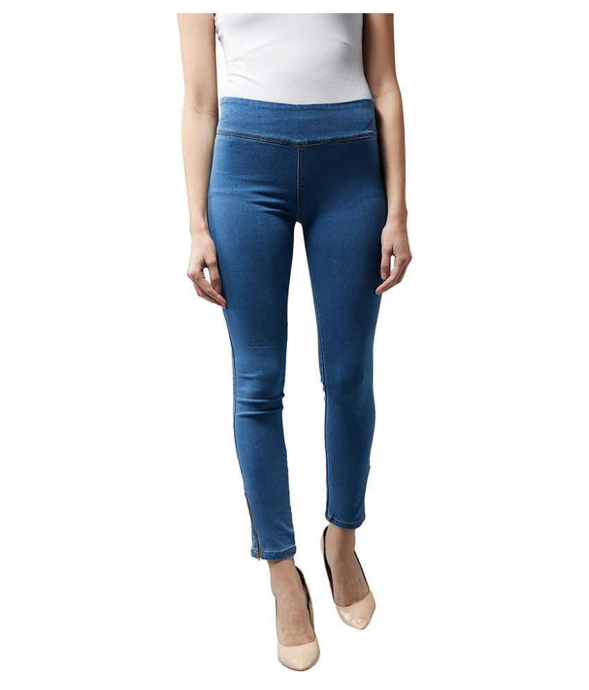 Dolce Crudo Denim Jeggings - Blue