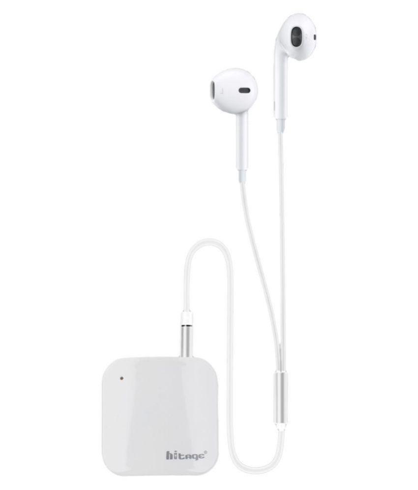 hitage Wireless Bluetooth Adapter Neckband Wireless With Mic Headphones/Earphones