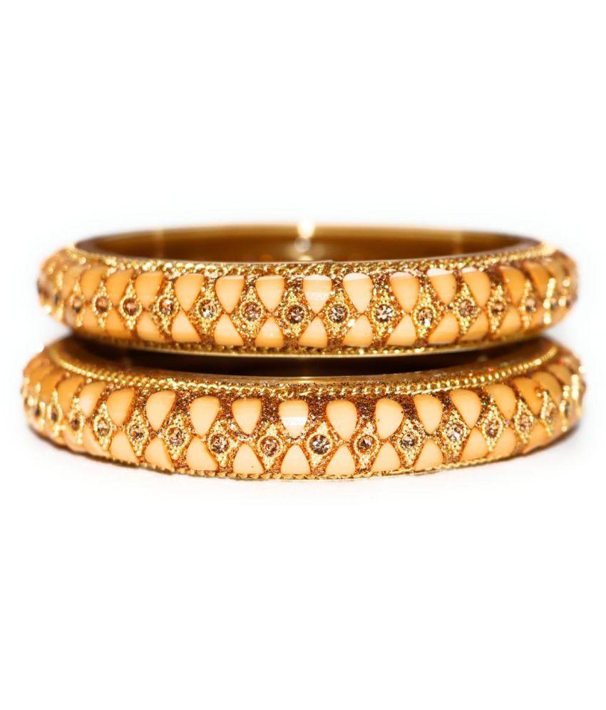 MayaGhar Gold Plated Stoned Bangle ( 2.4 Size )