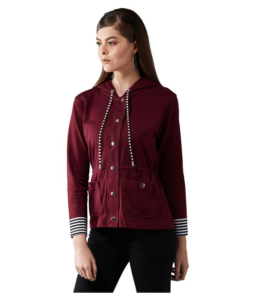 Dolce Crudo Cotton Maroon Jackets