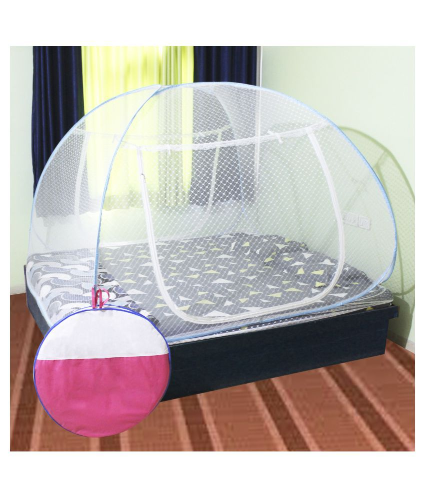 N M CREATION King Blue Mosquito Net