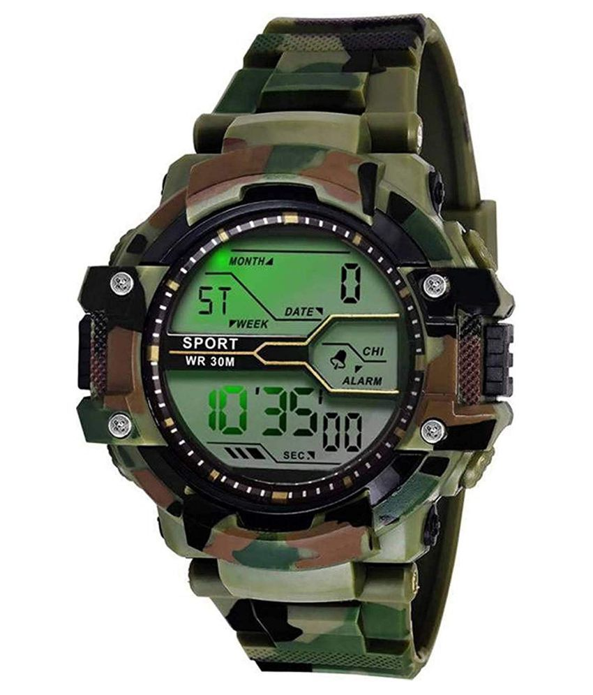 D.D.ICON ARMY Silicon Digital Men's Watch