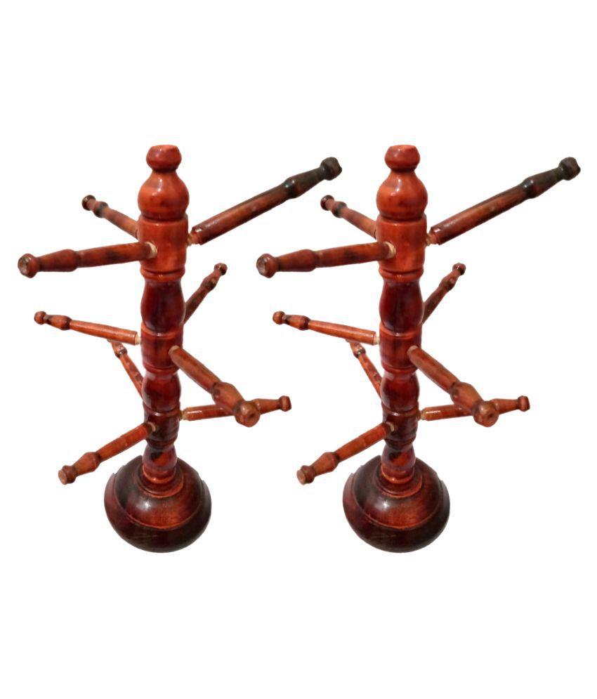 Generic Brown Wood Handicraft Showpiece - Pack of 1