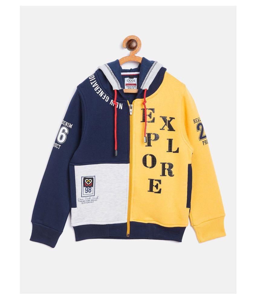 Oddi Regular Kids Cotton Hoodies Navy