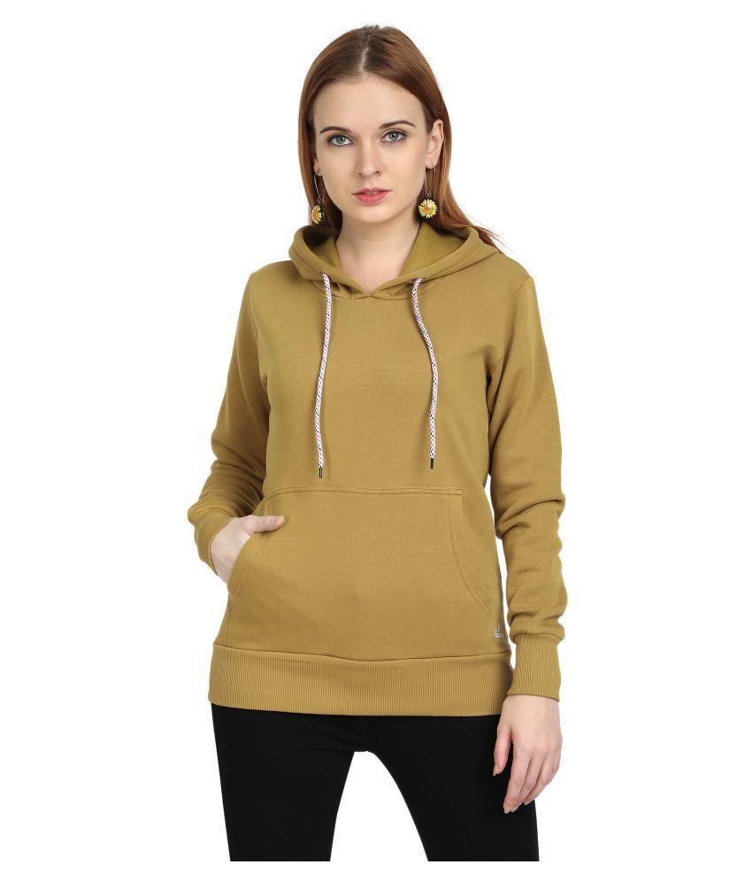 PICOT Cotton - Fleece Yellow Hooded Sweatshirt