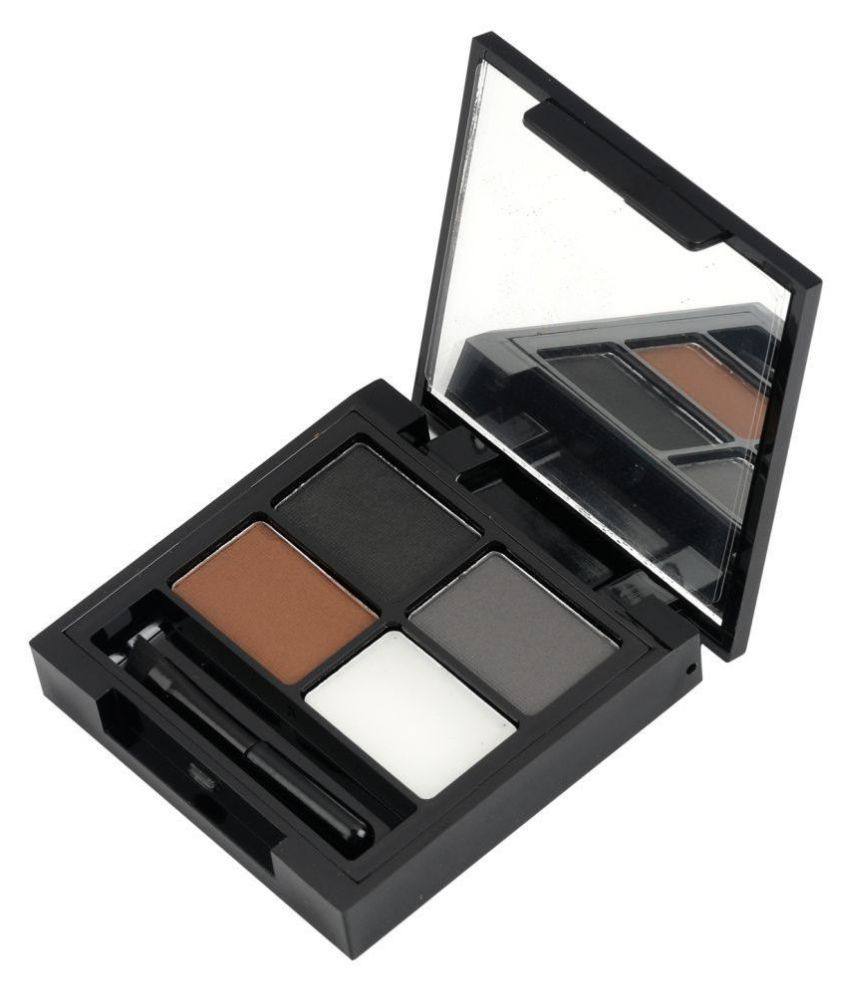 Swiss Beauty Eyebrow Palette (3 Brows Powder + 1 Wax) Brow Palette Brown, 5gm