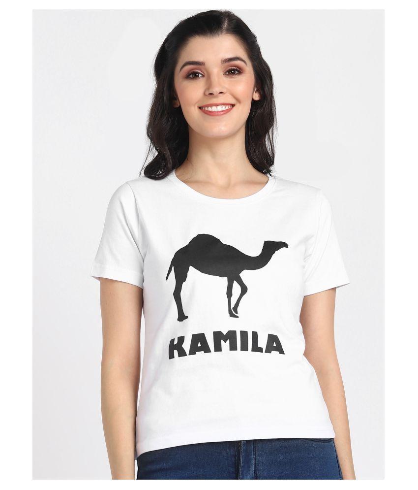 HRIDAYA FASHION Cotton White T-Shirts