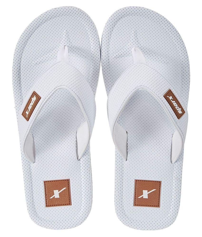 Sparx White Thong Flip Flop
