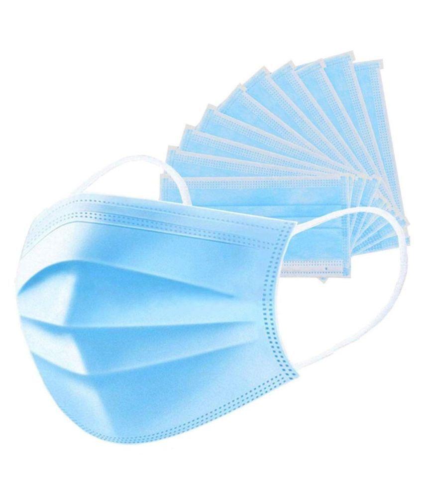 Abony 3 Ply Anti Pollution Face Mask -100 Pcs