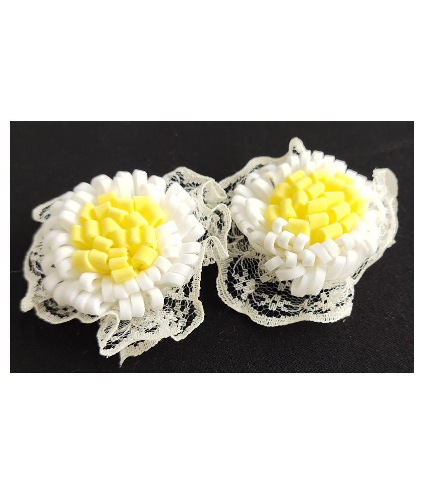 36Pcs White Color Rose Foam Artificial Flower For Craft & Party Decoration