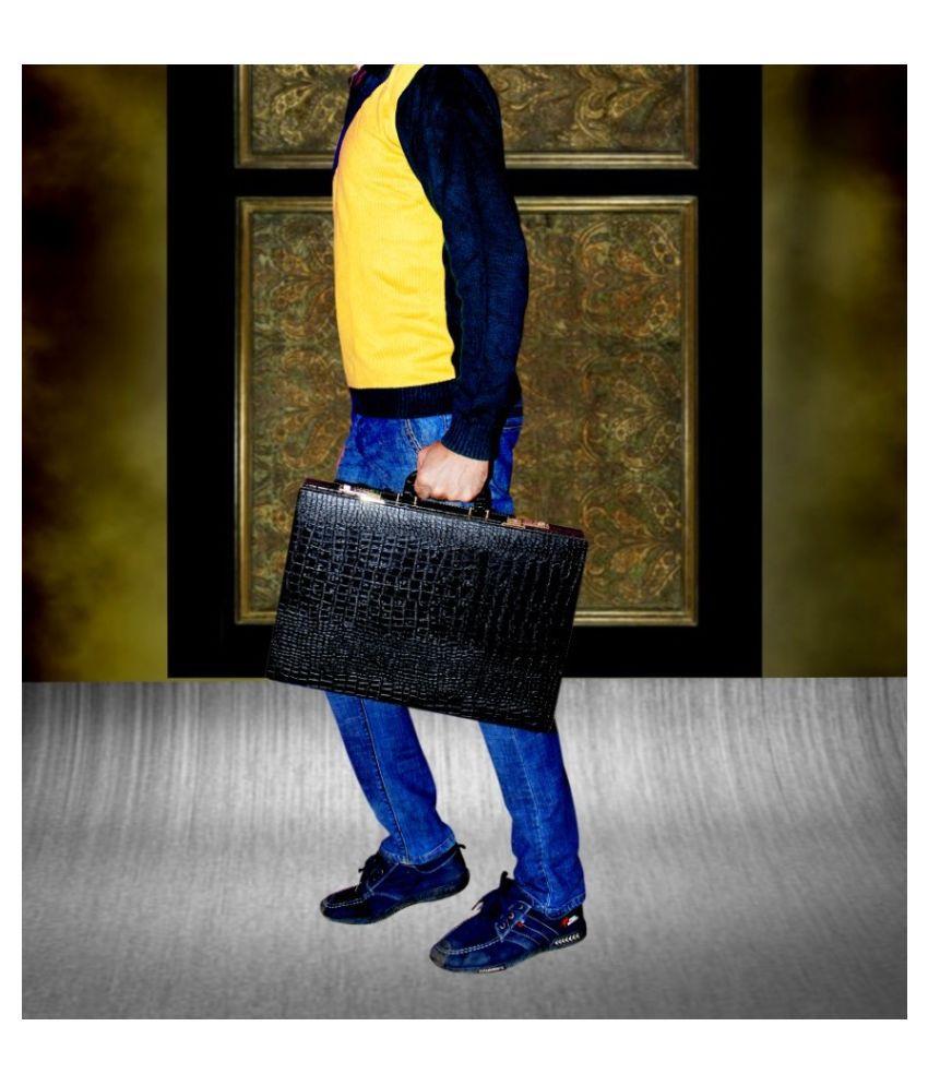 Home Story Black P.U. Briefcase