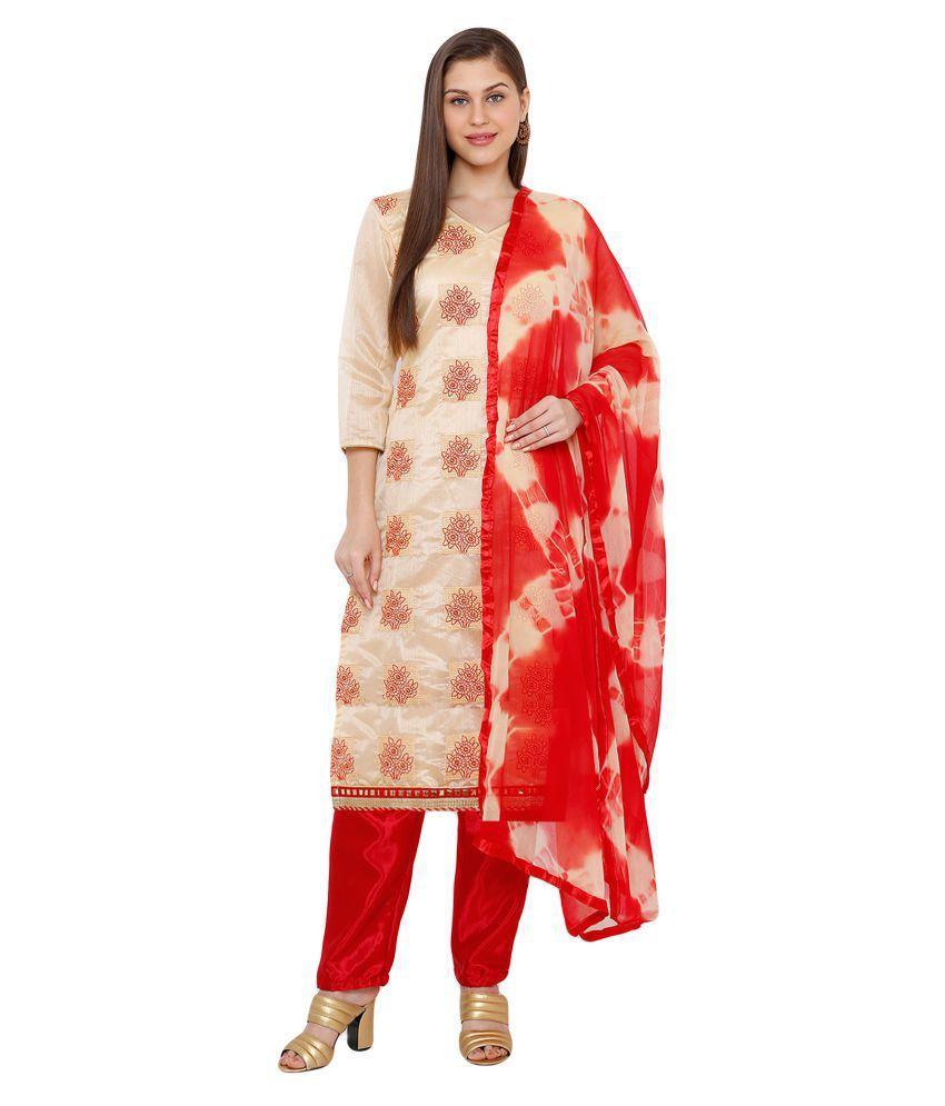 Salwar Studio Cotton Silk Kurti With Salwar - Stitched Suit