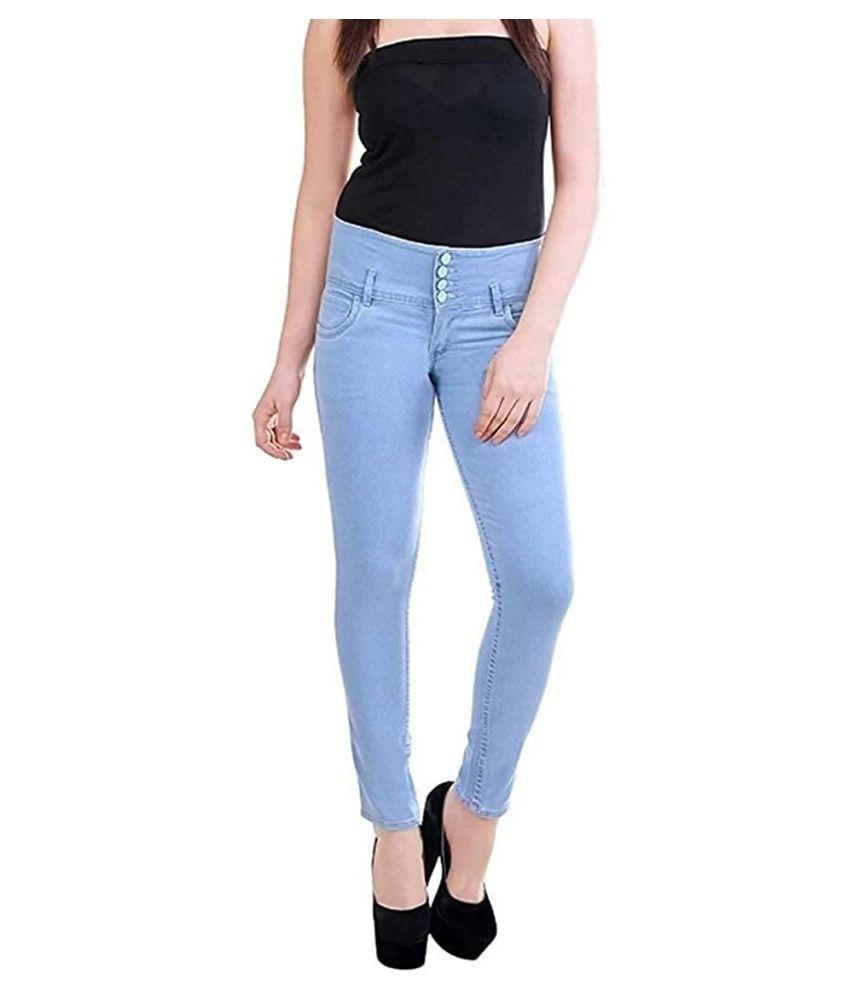 Habit Denim Lycra Jeans - Blue