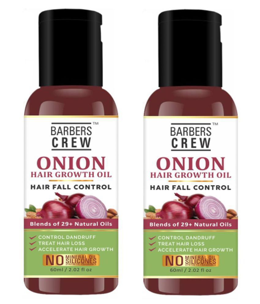 Barbers Crew ONION Herbal Hair oil- For Hair Regrowth 120 mL Pack of 2
