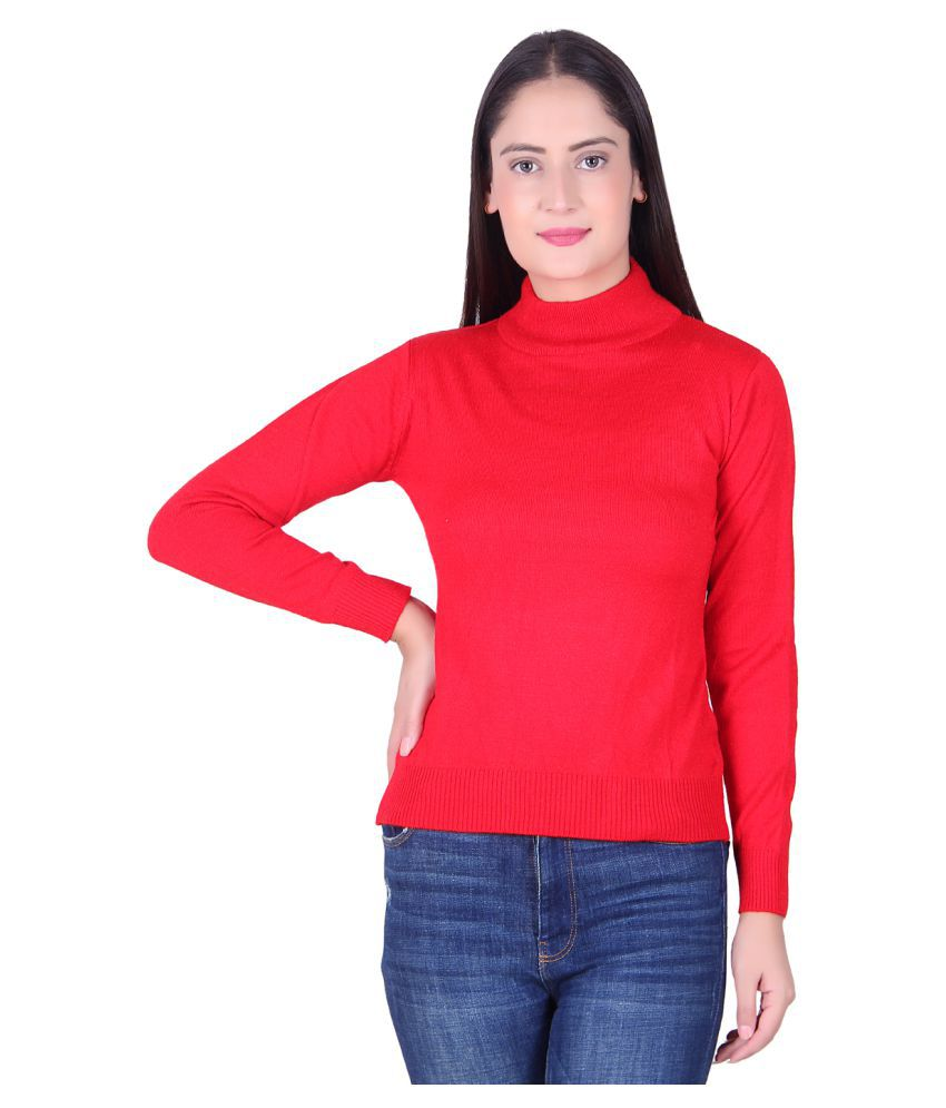 Ogarti Acrylic Red Pullovers